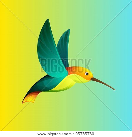 Hummingbird Character For Logo