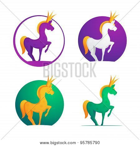Horse Crown Character For Logo