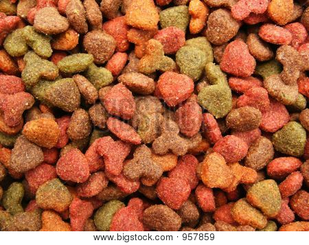 Cats (Dogs) Food Detail Close-Up