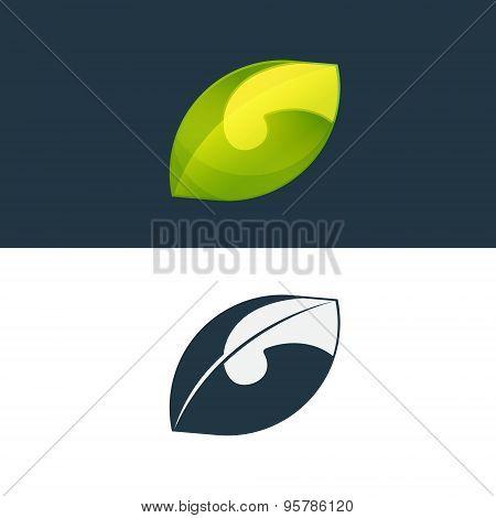 Green Leaf And G Letter Logo