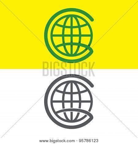 G Globe Letter Logo