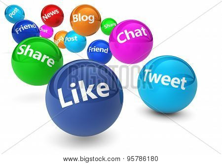 Social Network And Web Media Concept
