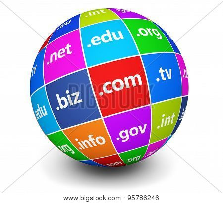 Domain Names Sign Web Globe