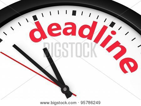 Deadline Business Time Concept