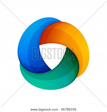 Abstract Triangle Vector Logo
