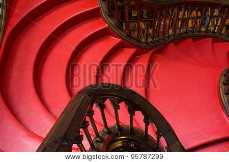 PORTO, PORTUGAL - JUNE, 12: Famous bookstore Livraria Lello interior on June 12, 2015 in Porto, Portugal