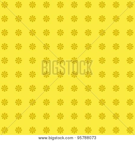 Classic  Vintage Flower Pattern On Yellow Background