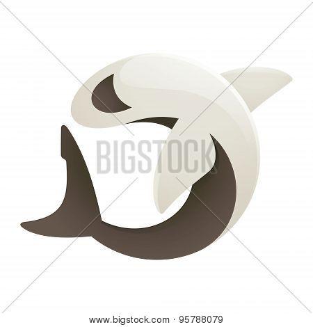 Shark Volume Character In Vector