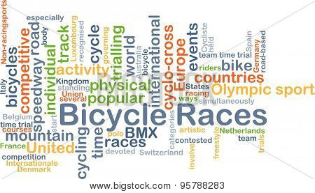 Background concept wordcloud illustration of bicycle races