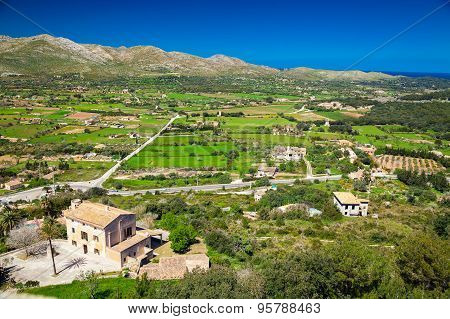 Rural Landscape At The North Of Majorca