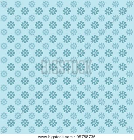 Vintage Flower Pattern. Vector Background