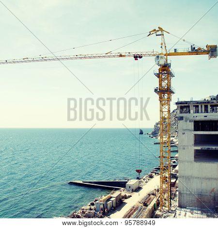 Construction Site At The Sea Coast