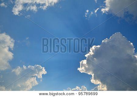 Sky, Clouds And Sunbeams