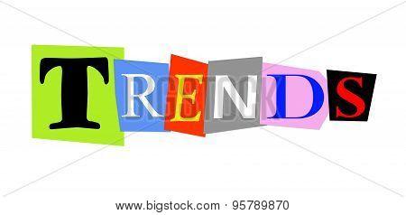 trends in colorful cut out letters