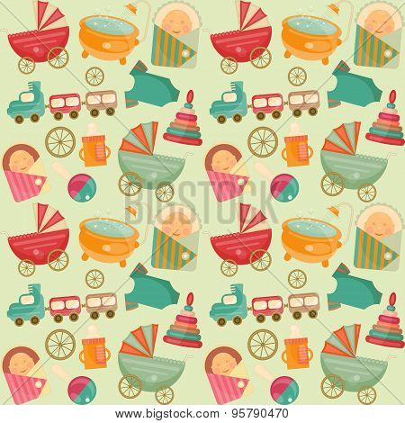 Baby Shower Seamless Background