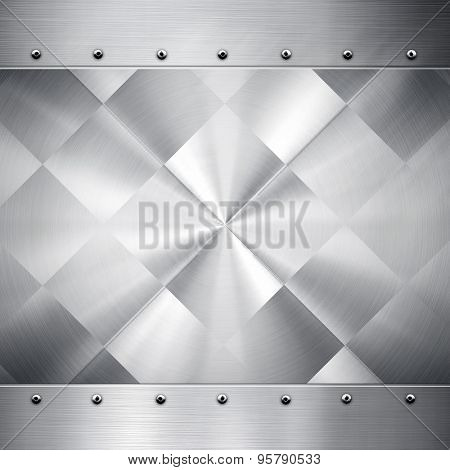 silver metal pattern background