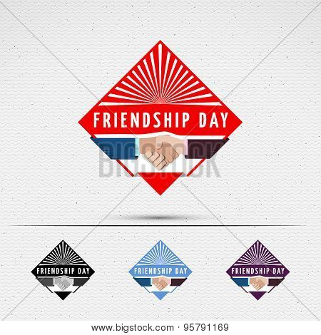 Friendship day badges logos and labels for any use