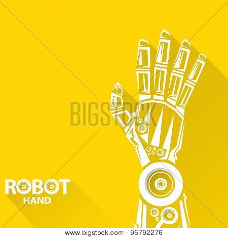 vector robotic arm symbol. robot hand.