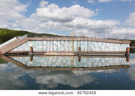 Vejle waterfront in Denmark