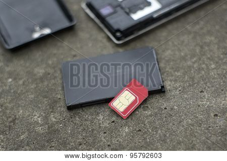 Broken Sim Card And Phone