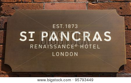 St. Pancras Renaissance Hotel In Kings Cross London