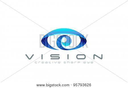 Eye Logo abstract design template. Creative vision logotype for optic, photography, video, technology, search etc.