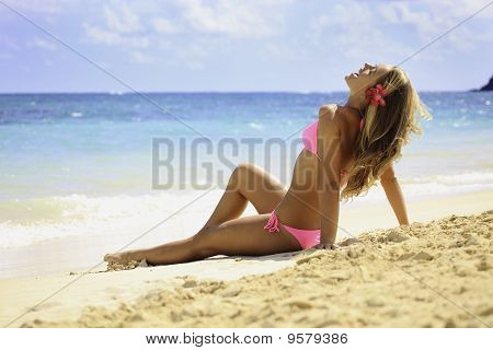teenage girl at the beach