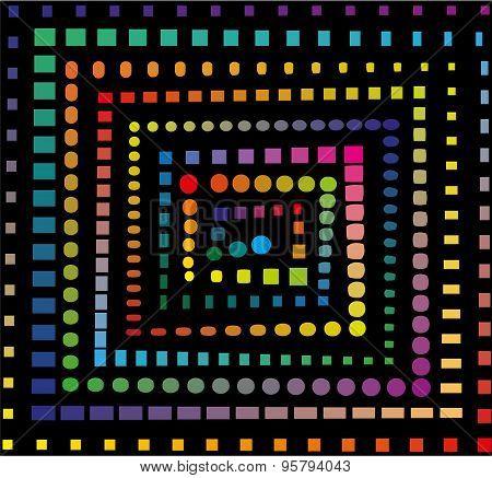 Rainbow spiral pattern
