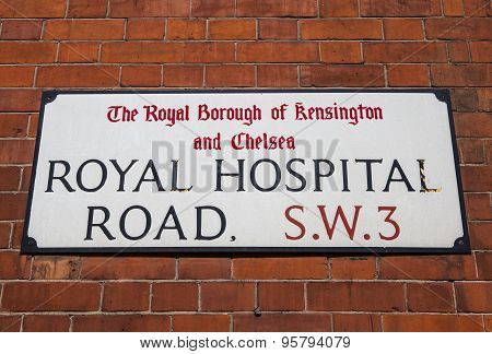 Royal Hospital Road In Chelsea