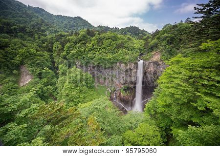 One of top 3 waterfalls in Japan. Kegon Falls, Nikko