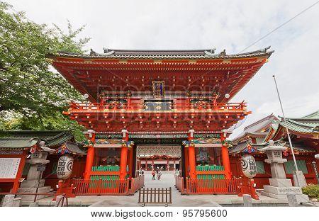 Zuishin-mon Gate Of Kanda Shrine In Tokyo, Japan