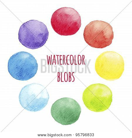 Vector Watercolors Blobs