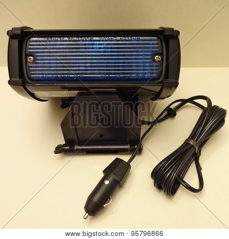 Blue light flasher for automotive special vehicles