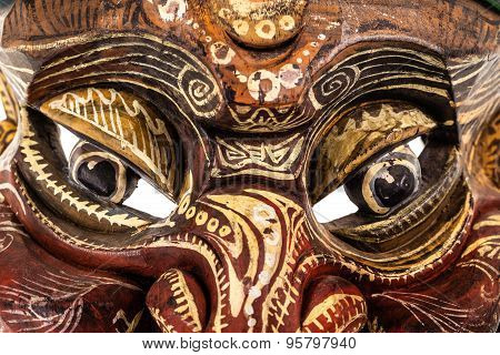 Japanese Traditional Mask Eyes