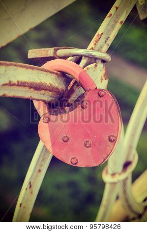 Love padlocks at a bridge