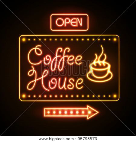 Neon Sign. Coffee House