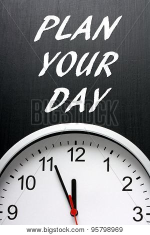 Plan Your Day Clock