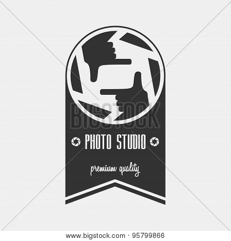 Photo Studio Logo Template. Can Be Used For Background On Business Cards Or Poster, Design Element,