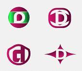 foto of letter d  - letter D logo template - JPG