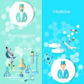 stock photo of pharmaceutical  - Pharmaceutical and medicine - JPG