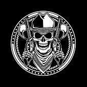 Постер, плакат: Cowboy Skull Hold Guns