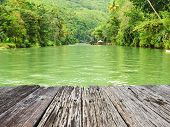 foto of rainforest  - Tropical River running through rainforest - JPG