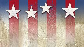 picture of generous  - Graphic illustration of American flag components on grunge - JPG
