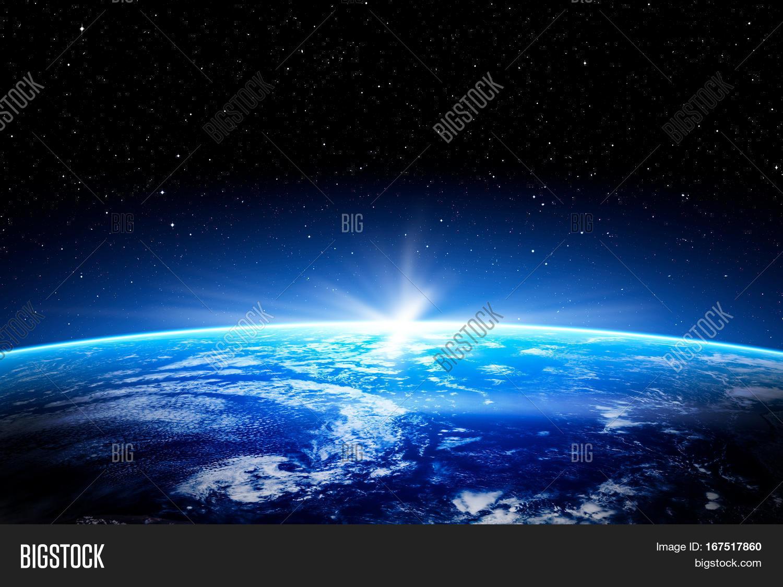 earth horizon nasa night - photo #5