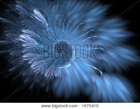 Blue Spiral Background / Design