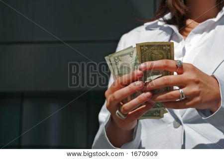 Woman And Dollars
