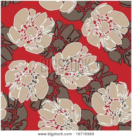 arte vintage floral fundo