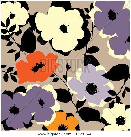 art vintage floral background