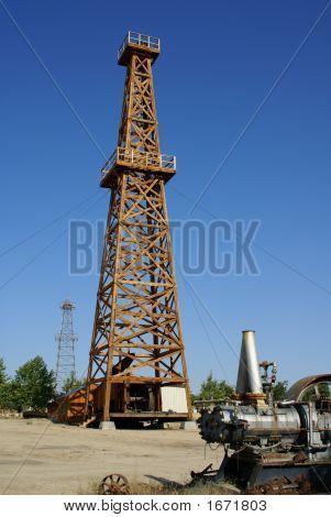 Wooden Oil Derrick