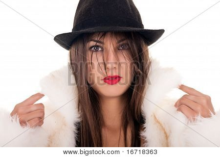 Sexy Woman Posing With Hat